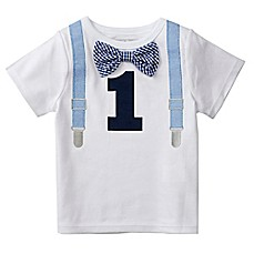 image of Mud Pie® Size 18M 1st Birthday Bodysuit in White