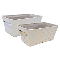 image of Closet Complete Metallic Canvas Diaper Caddy
