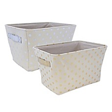 image of Closet Complete Metallic Canvas Storage Bin