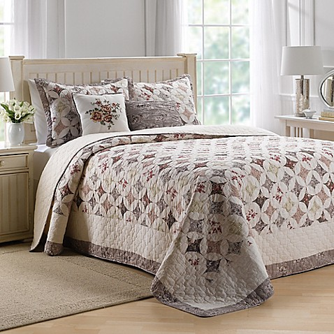 Nostalgia Home Lily Bedspread In Beige Bed Bath Amp Beyond