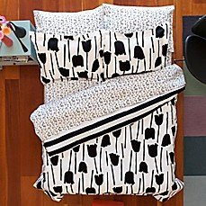 Image Of Aéropostale Tulips Reversible Comforter Set In Black