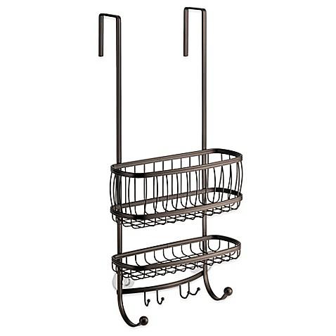 Buy interdesign york over door shower caddy in bronze for Interdesign york