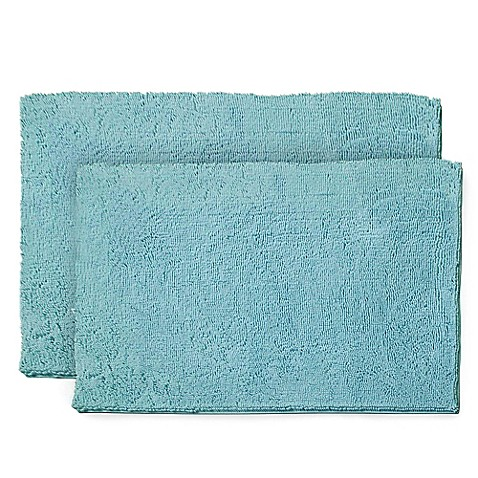 Resort Collection Chenille Plush Loop 2-Piece Bath Mat Set ...