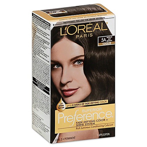 l oréal superior preference fade defying color and shine in 5a medium ash brown from bed