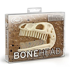 image of Fred & Friends BoneHead Dinosaur Folding Brush and Comb Set