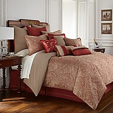 image of Waterford® Linens Cavanaugh Reversible Comforter Set in Cinnabar