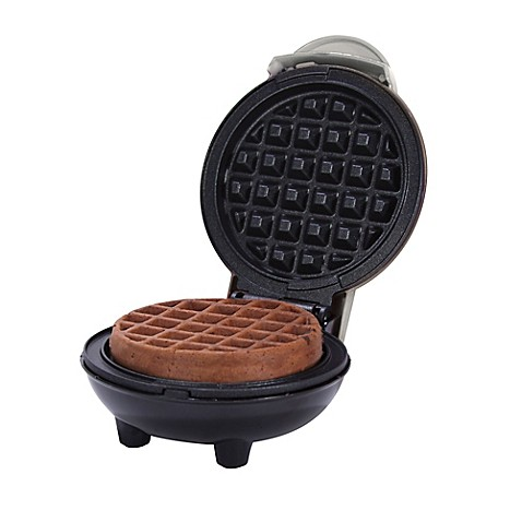 Dash Mini Waffle Maker In Silver Bed Bath Amp Beyond