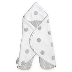 image of Puckababy® The Gogo Newborn® Size 0-7M Wearable Blanket in White/Grey Dot