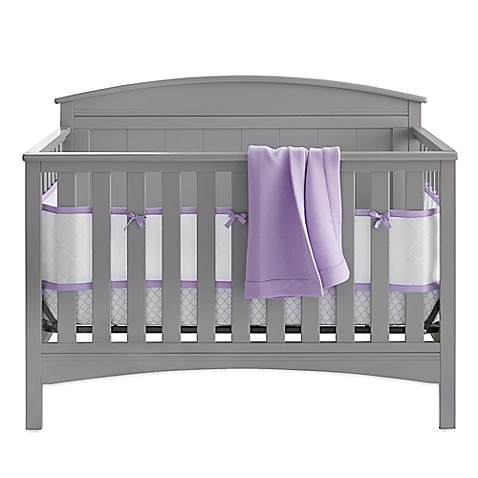 BreathableBaby® Deluxe Embossed 4-Piece Crib Bedding Set in Lavendar