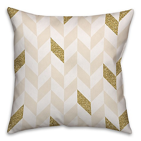 Square Throw Pillow Pattern : Herringbone Pattern Square Throw Pillow - Bed Bath & Beyond