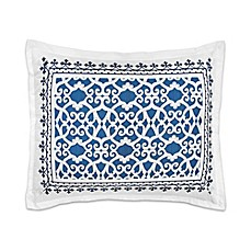 image of Dena™ Atelier Indigo Dream Pillow Sham in White/Indigo