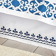 image of Dena™ Atelier Indigo Dream Bed Skirt in White/Indigo