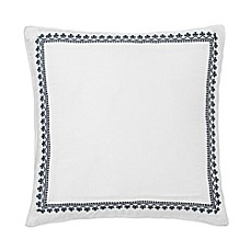 image of Dena™ Atelier Indigo Dream European Pillow Sham in White/Indigo