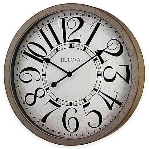 Bulova Westwood Wall Clock In Antique Grey