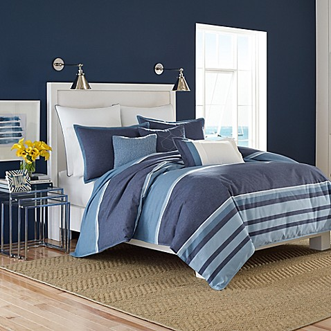Nautica Broadwater Duvet Cover Set In Dark Blue Bed Bath Beyond