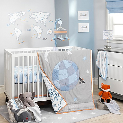 Lambs Ivy Silver Cloud Crib Bedding Collection Bed