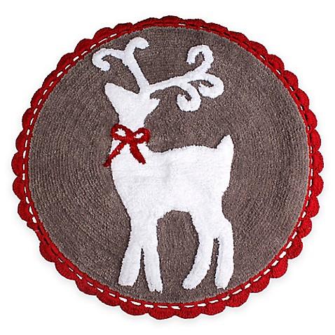Reindeer 25 Inch X Bath Rug