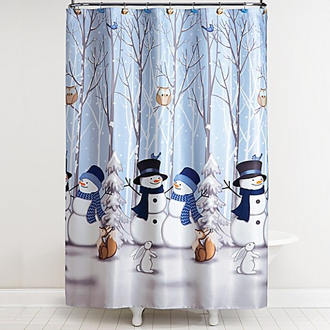 Bathroom Decor Ideas Bed Bath And Beyond winter friends shower curtain with hooks - bed bath & beyond
