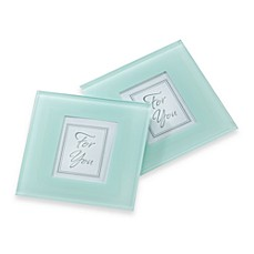image of Kate Aspen® Forever Photo Frosted Glass Coaster (Set of 2)