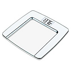 image of Beurer Glass Digital Scale in White/Chrome Finish