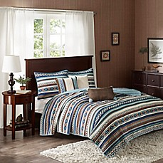 image of madison park malone coverlet set