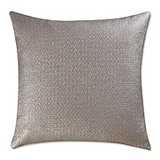 image of Vince Camuto® Lille Metallic Woven 20-Inch Square Throw Pillow in Taupe