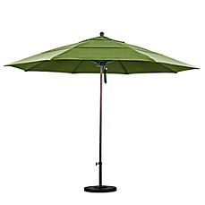 Image Of California Umbrella 11 Foot Double Vent Market Umbrella With  Bronze Pole