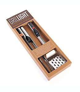 Set de utensilios para parrilla con luz LED, Grilllight™, 2 piezas