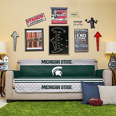 michigan state university sofa cover bed bath beyond
