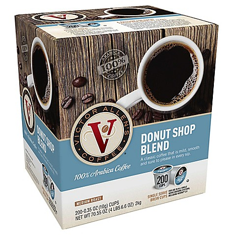 200count victor allen donut shop blend coffee pods for single serve coffee makers - Donut Shop Coffee