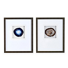 image of Madison Park Agate Stone Framed Wall Art