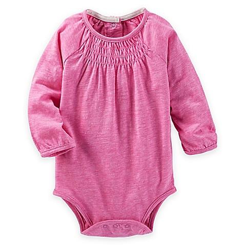 Buy Oshkosh B gosh Size 18M Smocked Neon Bodysuit in Pink #1: m $478$