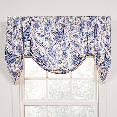 Buy Artissimo Tie Up Window Curtain Valance In Blue From