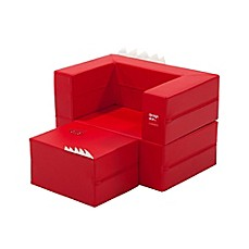 image of Design Skins Transformable Play Furniture Cake Sofa in Red