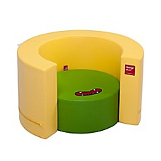 image of Design Skins Transformable Play Furniture Tunnel Sofa in Yellow