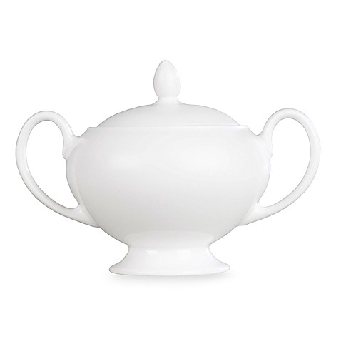 Wedgwood® White Covered Sugar Bowl
