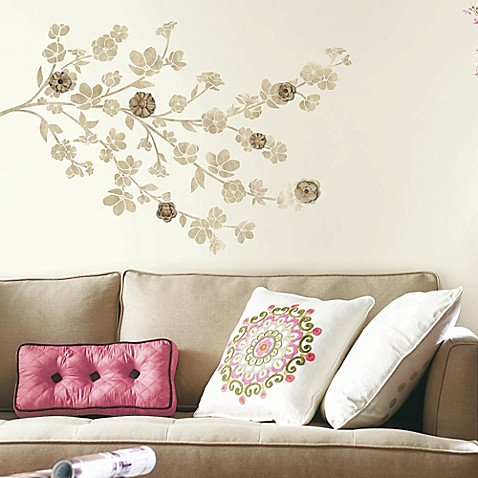 Buy floral blossom peel and stick wall decals with 3d Floral peel and stick wallpaper