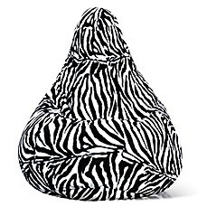 image of adult size velvet bean bag chair in zebra print beanbags sphere chairs furniture dorm