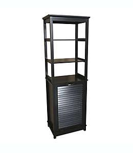 Mueble alto para baño con cesto para ropa Summit®, en espresso