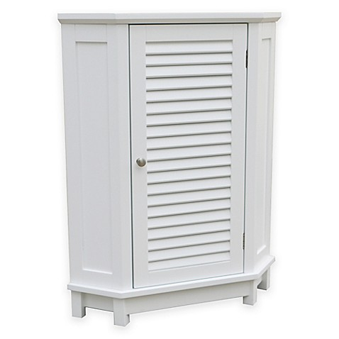 Buy Summit Corner Floor Cabinet In White From Bed Bath Beyond