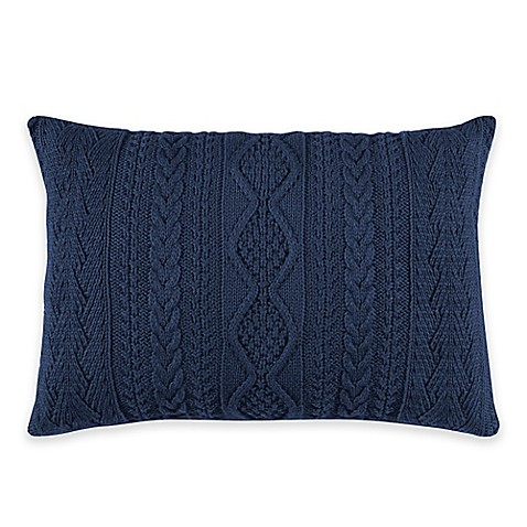 Wilton 12-Inch x 18-Inch Oblong Throw Pillow in Blue - Bed Bath & Beyond
