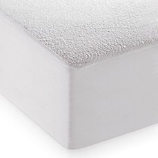 Image Of Dreamserene Smooth Sleep Waterproof Terry Mattress Protector