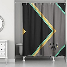 Image Of Chevron Class Personalized Shower Curtain In Black