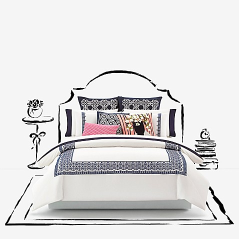 Kate spade new york folk art duvet cover bed bath beyond for Bed bath and beyond kate spade