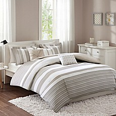 image of Regency Heights Cosworth 6-Piece Duvet Cover Set in Neutral