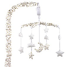 image of The Peanut Shell® Stars Musical Mobile in Gold