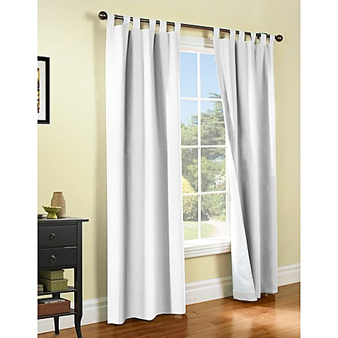 Buy Thermalogic Weathermate 63 Inch Tab Top Window Curtain Panel Pair In White From Bed Bath