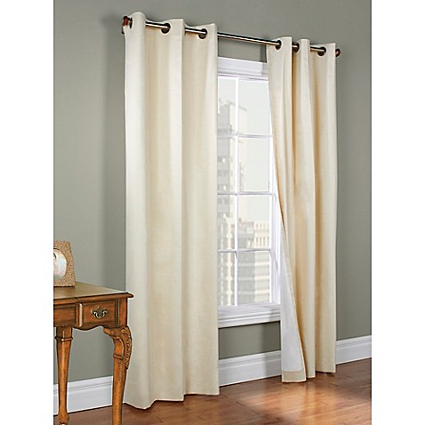 Buy Thermalogic Weathermate 72 Inch Grommet Top Window Curtain Panel Pair In Natural From Bed