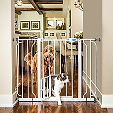 image of Carlson™ Extra Wide Walk-Through Gate with Small Pet Door