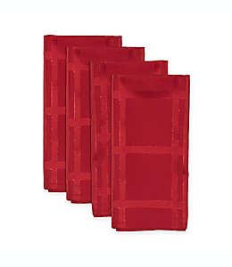 Servilletas Origins Holiday®, en rojo/plateado, Set de 4